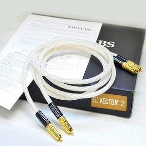 Image 2 - Pair Taralabs RSC Vector 2 RCA Audio 8N silver Interconnect Cable gold rca plug original box Hifi Vinshle