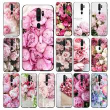 LVTLV Elegant Pink Purple Peony On the Vase Phone Case for oppo f7 f5 f9 k1 a77 f3 reno f11 11pro realme 2 cover(China)