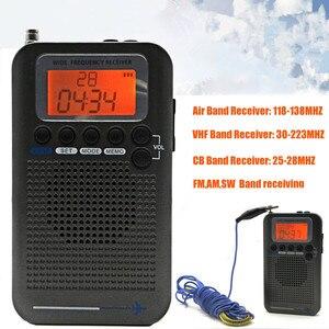 Image 2 - Mini taşınabilir cep AM/FM 2 yönlü LCD teleskopik anten akülü radyo alıcısı