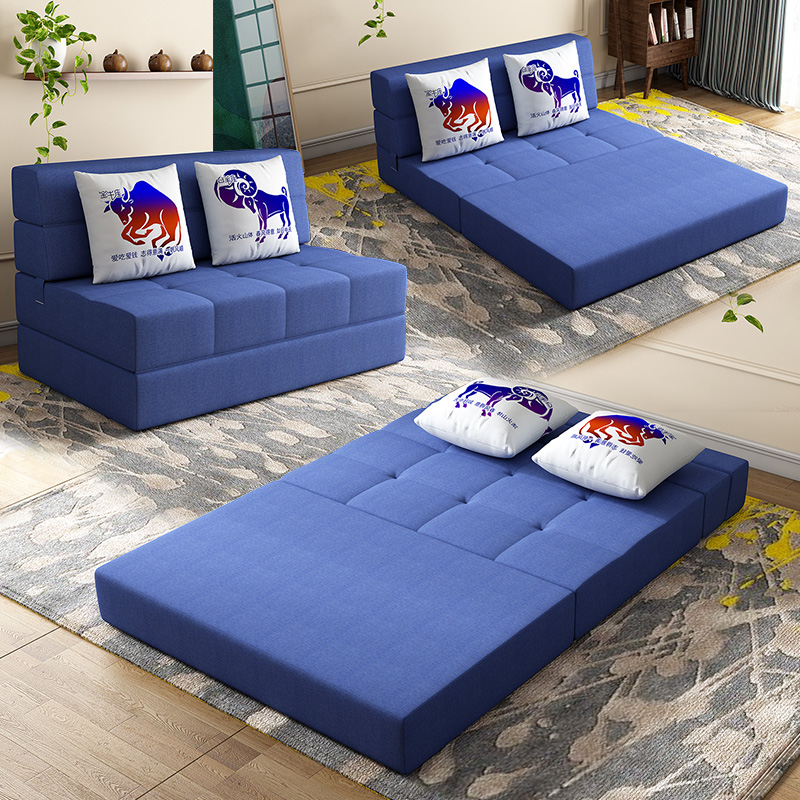 72 120cm folding sofa bed floor tatami bed cushion mattress dual purpose single double small bedroom home lazy lounge couch pouf