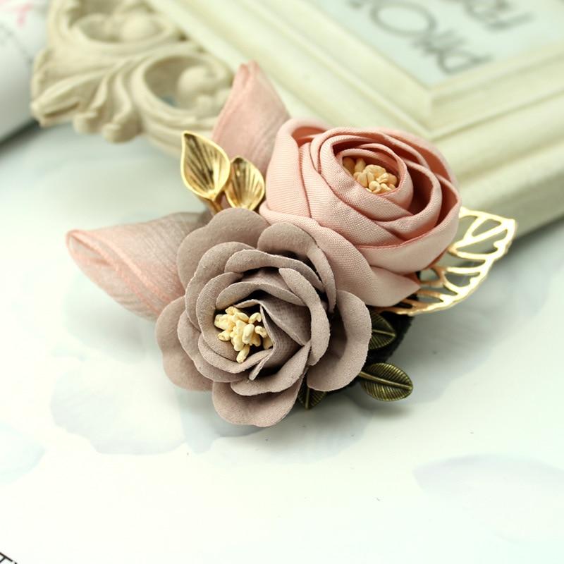 i-Remiel Korean Cloth Art Fabric Flower Brooch Shirt Collar Vintage Pins and Brooches for Women Dress Shirt Collar Accessories 2