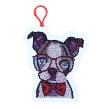 5D DIY Special Shaped Diamond Painting Stickers Kit Wallet Glasses Dog Coin Purse Keychain Bag Pendants Christmas Gift(China)