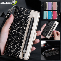 Luxe Leather Case Voor Samsung Galaxy A5 J3 J5 J7 2017 A6 A7 A8 J4 J6 Plus 2018 Rits Portemonnee flip Card Slots Telefoon Cover Coque
