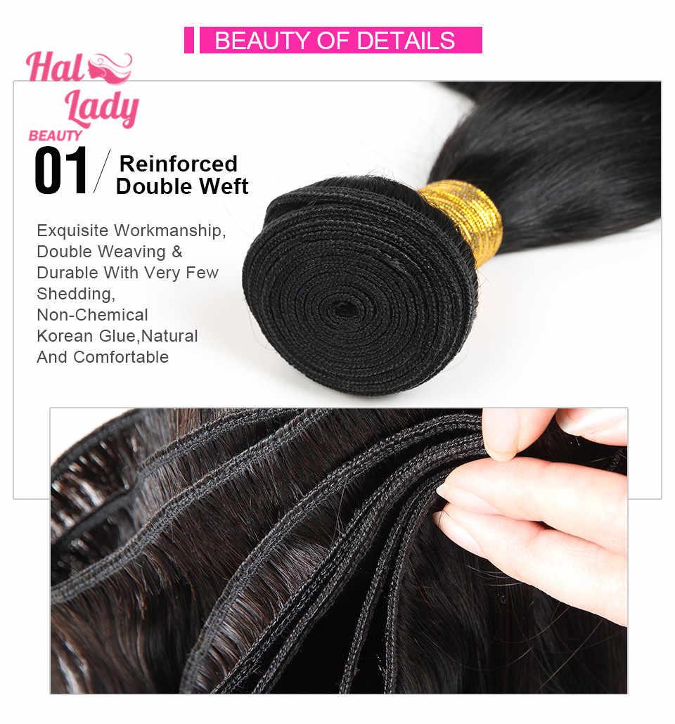 Halo Lady Beauty Braziliaanse Virgin Hair Extensions Straight Onverwerkte Menselijk Haar Weeft 30 32 34 36 38 40 50 Inches 1 Bundel 1b
