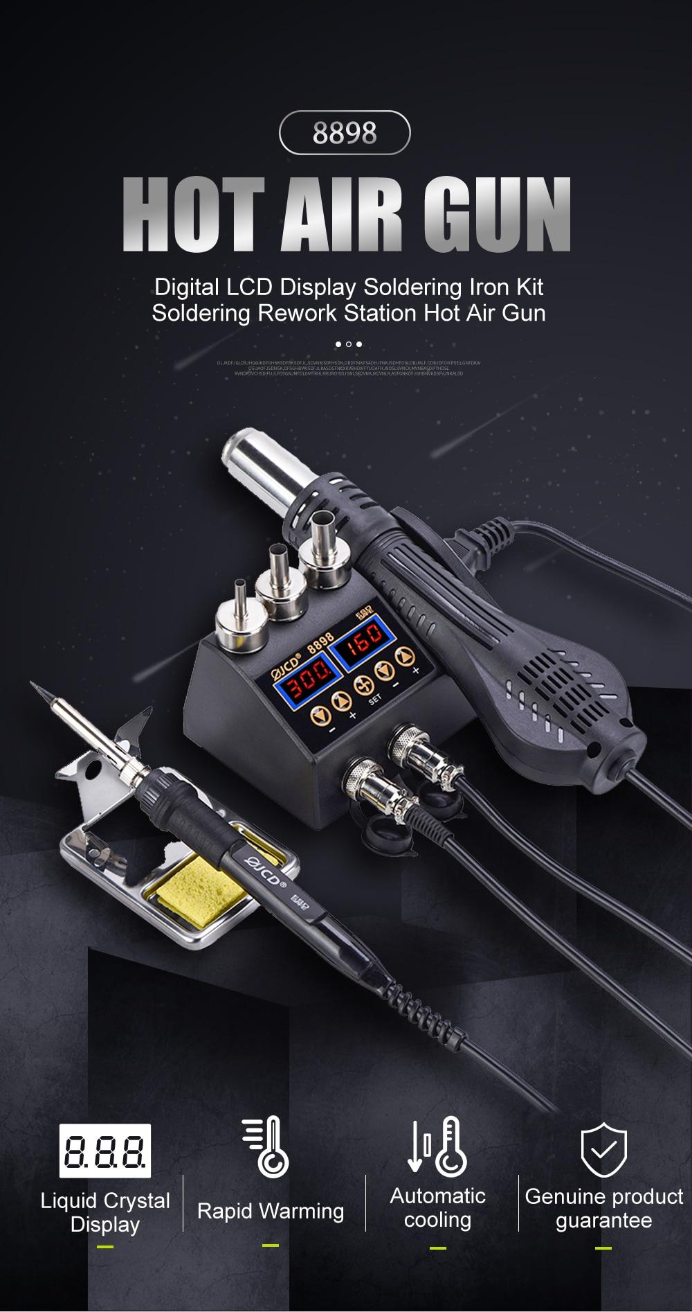 2in1 750W Soldering station LCD Digital display welding repair station for phone