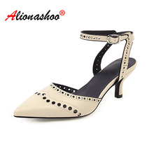 Women Sandals Sexy Stiletto High Heels Sandals Women Ankle Strap Summer Shoes Female Plus Size 48 Block Heels Buckle Women Shoes 2015 plus size sweety women sandals wedges high heels patent leather t strap ankle buckle strap chunky rivets decorated summer