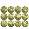 Китайские памятные монеты 12 знаков зодиака, издание 2003-2014, настоящая оригинальная монета для коллекции, Новинка