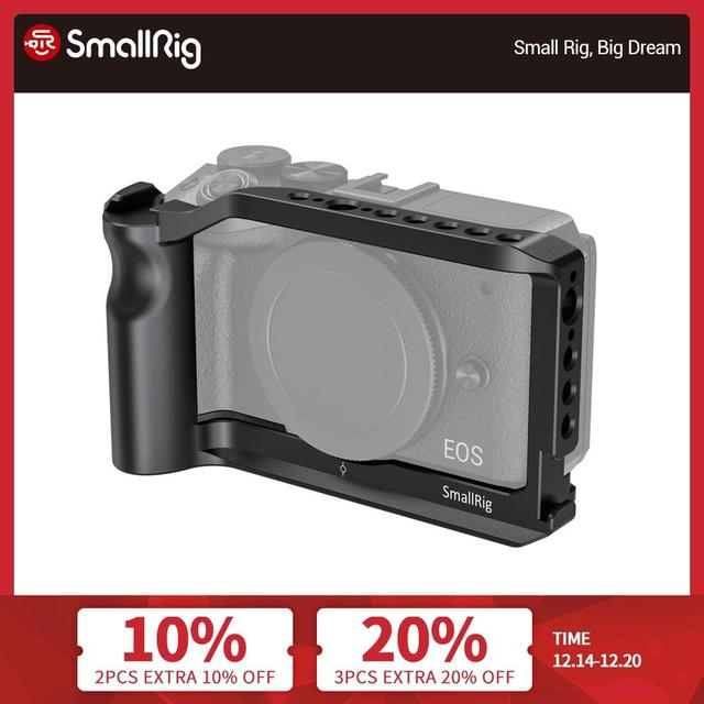 SmallRig Vlog Shooting Cage for Canon EOS M6 Mark II Camera Cage With Cold Shoe Mount/Integrated Handgrip /ARRI Threadings  2515