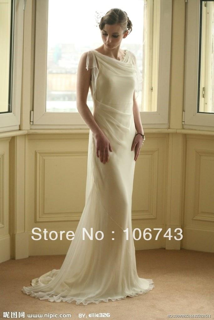 Free Shipping 2018 New Fashion Long Design Beaded Vestido De Noiva Chiffon Formal Elegant Party Bridal Gown Bridesmaid Dresses