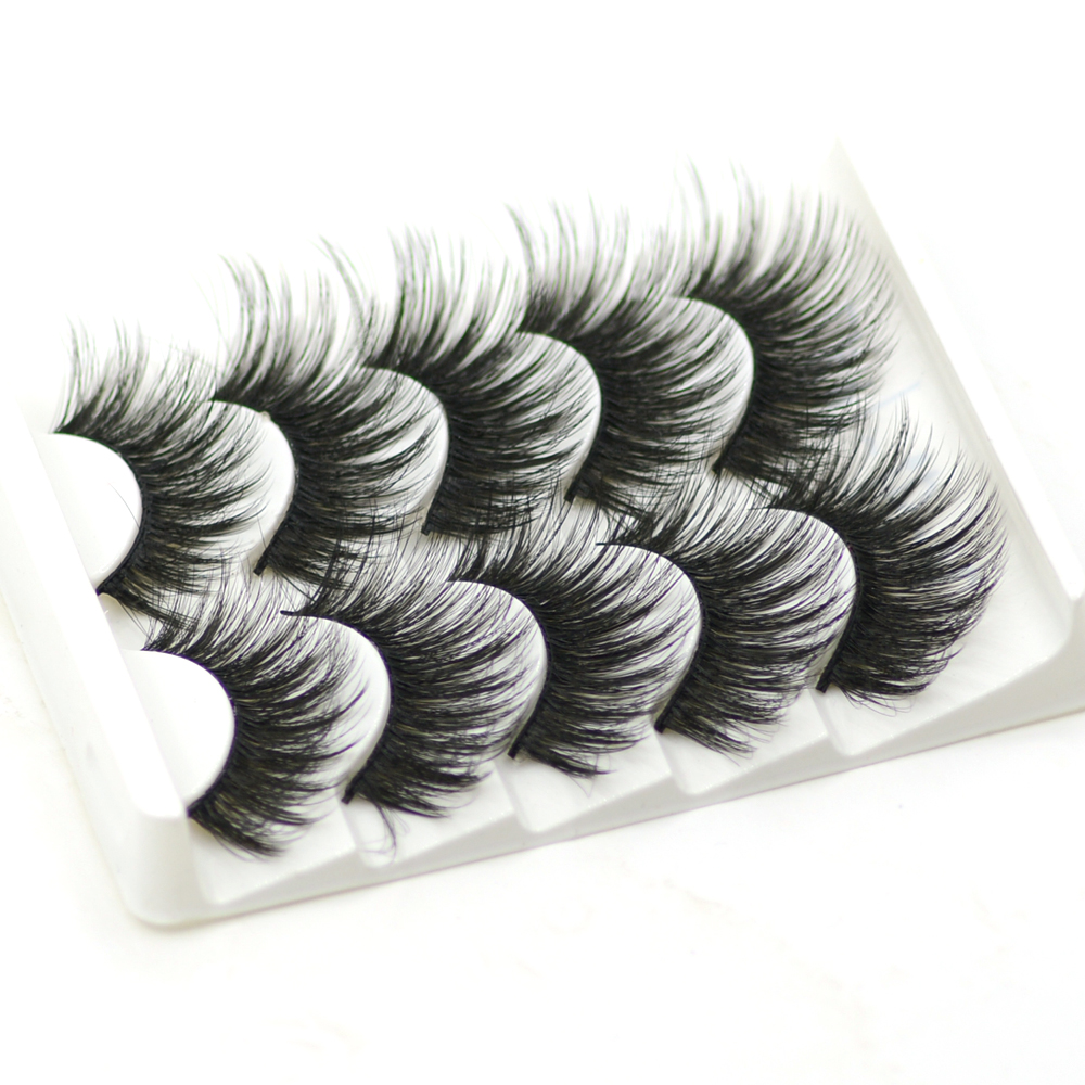 Wholesale Dramatic Mink Lashes Full Strip Beauty Makeup Fluffy Volume Thick Natural Long Faux Mink Eyelashes Set