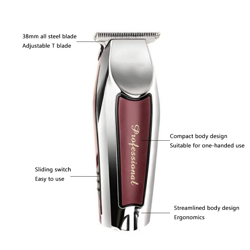 Hair Trimmer Professional Electric Hair Clipper USB Rechargeable Men 39 s Cordless Haircut Machine Carving Baber Salon Clippers in Hair Trimmers from Home Appliances