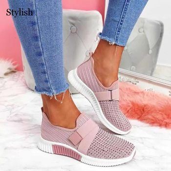 Women Casual Shoes Crystal Solid 1