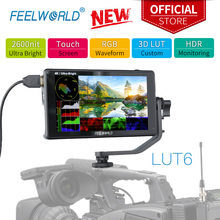 FEELWORLD LUT6 6 Inch 2600nits HDR 3D LUT Touch Screen on Camera Field DSLR Monitor