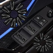 10 pçs etiqueta do carro auto paster para jaguares xk tijera ropa llavero F-TYPE v8 s xf xj 13my I-PACE xe C-X75 F-PACE detalhe automotivo