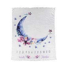 Baby Milestone Commemorative Blanket New