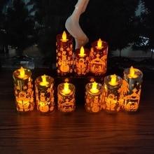 Маленький подсвечник с Санта-Клаусом, креативный Рождественский светильник с имитацией маленькой свечи, рождественские украшения