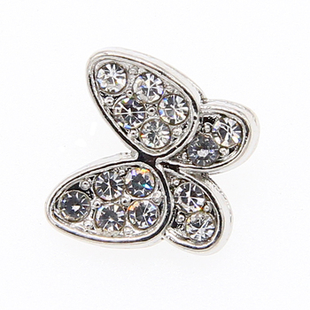 6pcs white K butterfly inlaid rhinestone small pendant, used to make necklace bracelets DIY result jewelry accessories 10*11mm image