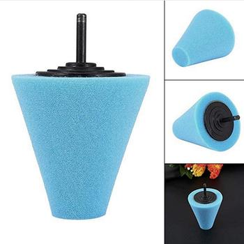 Car Polisher Tyres Wheel Wheel Hub Tool Burnishing Foam Polishing Pad Machine Sponge Polishing Disk Cone-shape Wheel Hubs W3Q9 image