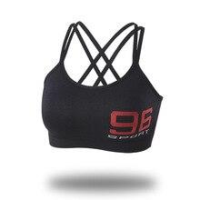 Sports Bra Yoga Women Push Up Bra For Women Fitness Top Sport Bra Letters Black White Running Yoga Gym Fitness Crop Top Women