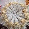 200 stücke spitze Candy Kegel wrap papier hochzeit decor baby dusche geschenk wrap dekorative papiere home küche backen papier decor liefert