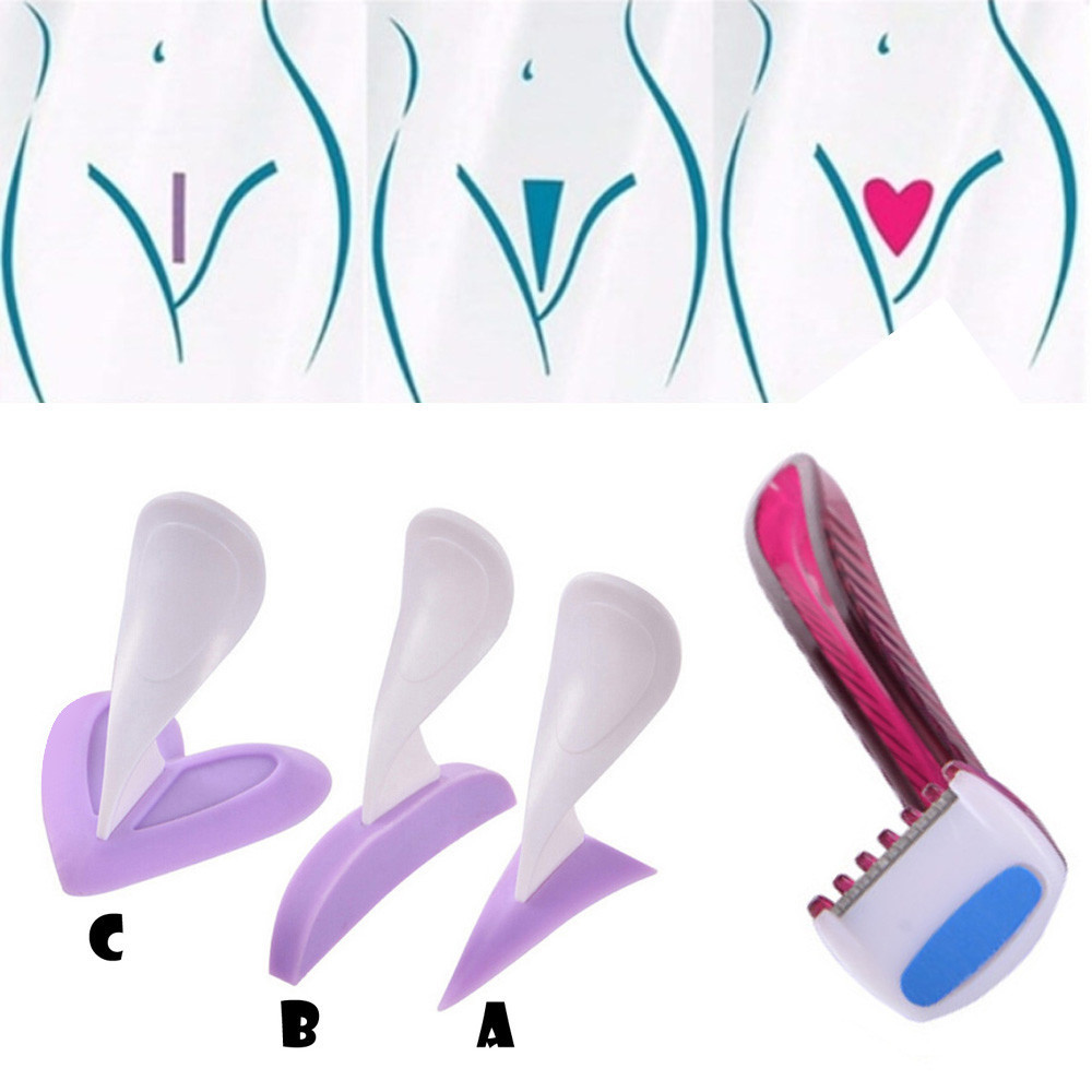 Women Bikini Dedicated Privates Shaving Stencil Sexy Female Pubic Hair Razor Intimate Shaping Tool