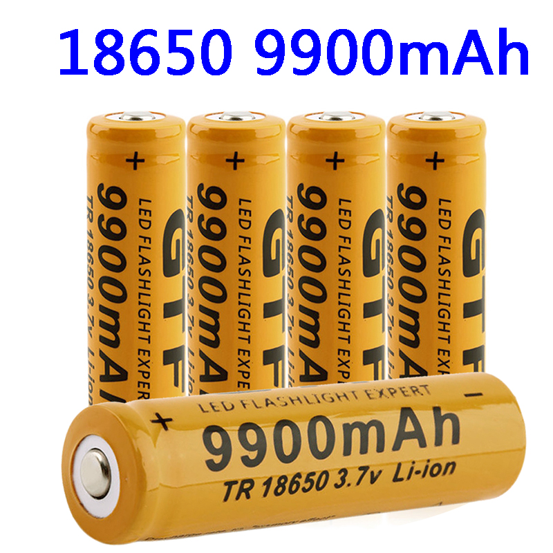 18650 Батарея литиевый перезаряжаемый аккумулятор Батарея 9900mAh литиевая батарея Батарея 3,7 V для Яркая игрушка-фонарик перезаряжаемый аккумул...