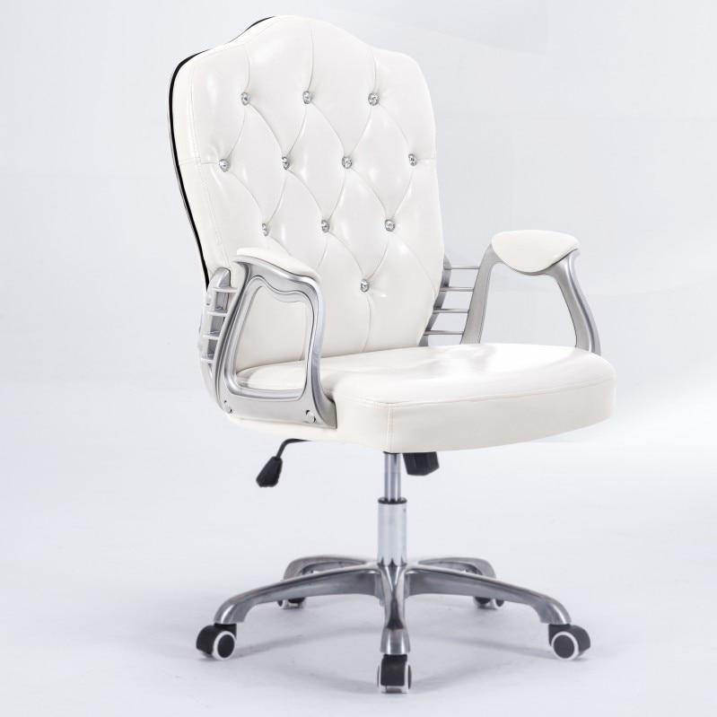 Computer Chair Home Swivel Chair Office Chair Staff Chair Host Chair European Study Room Chair Student Chair Leather Chair
