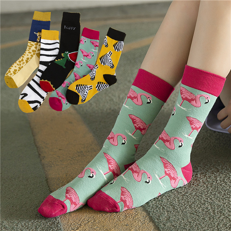 Cartoon Animal Women Fashion Socks 2019 Autumn New Fashion Trend Wild Cotton Comfortable Deodorant Breathable Cute Socks Women