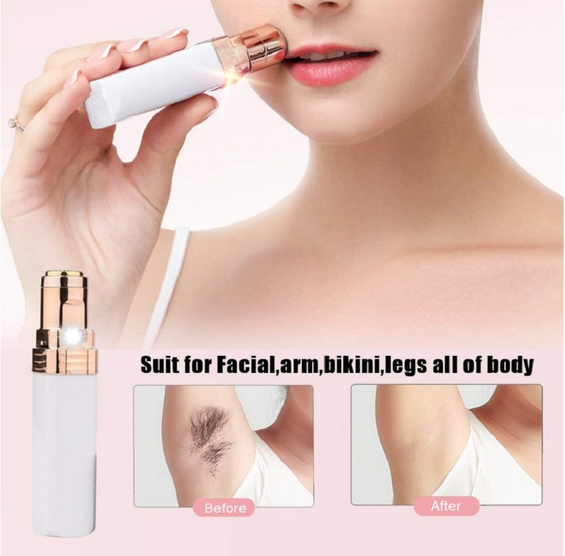 Portable Women Painless Hair Removal Electric Epilator Female Eyebrow Lip Cheeks Shaver Face Hair Remover