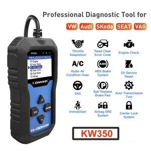 Image 2 - KW350 מקצועי OBD2 סורק אוטומטי קוד קורא עבור פולקסווגן לאאודי עבור סקודה אבחון בדוק מנוע אור סריקת כלי