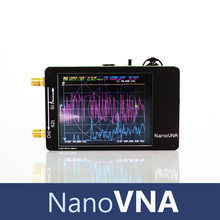 Nanovna 50khz-900mhz analisador de rede do vetor tela de toque digital de ondas curtas mf hf vhf uhf antena analisador permanente onda