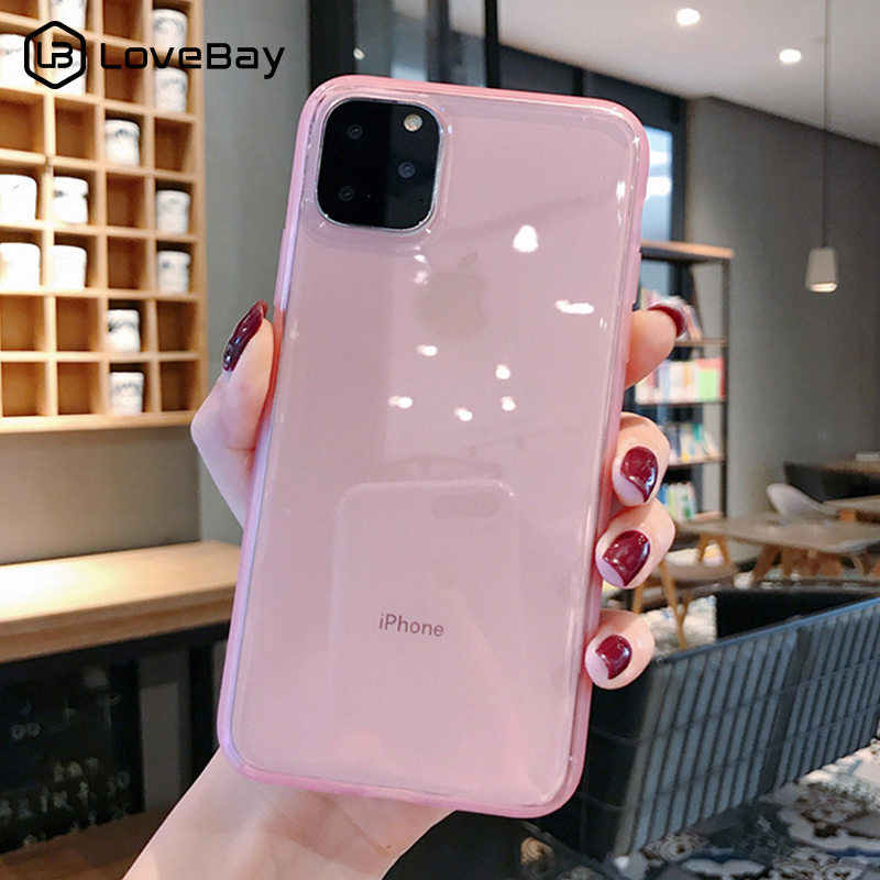 Lovebay Colorful Transparent Anti-shock Frame Phone Case For iPhone 11 Pro X XR XS Max 7 8 6 6s Plus Soft TPU Protection Cover
