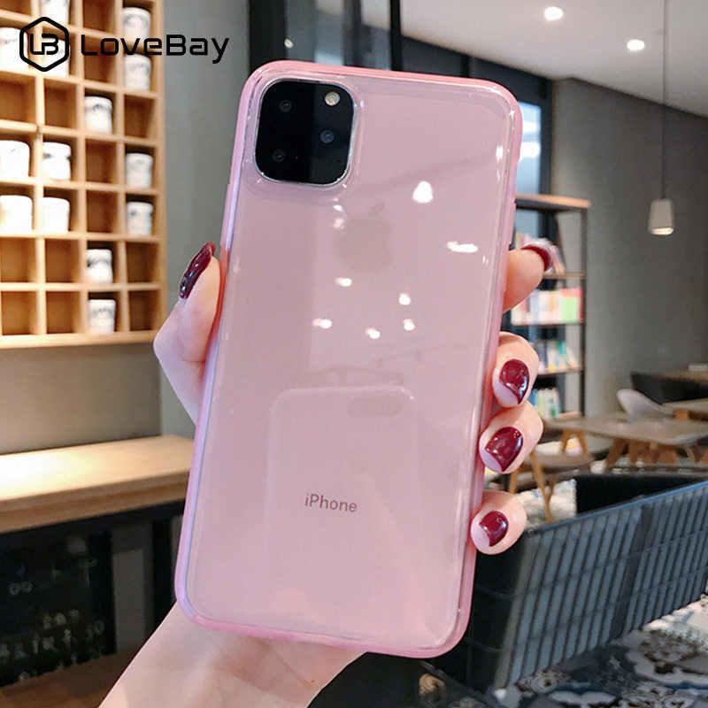 Lovebay สีสันโปร่งใส Anti-shock กรณีกรอบสำหรับ iPhone 11 Pro X XR XS MAX 7 8 6 6 S PLUS Soft TPU ป้องกัน COVER