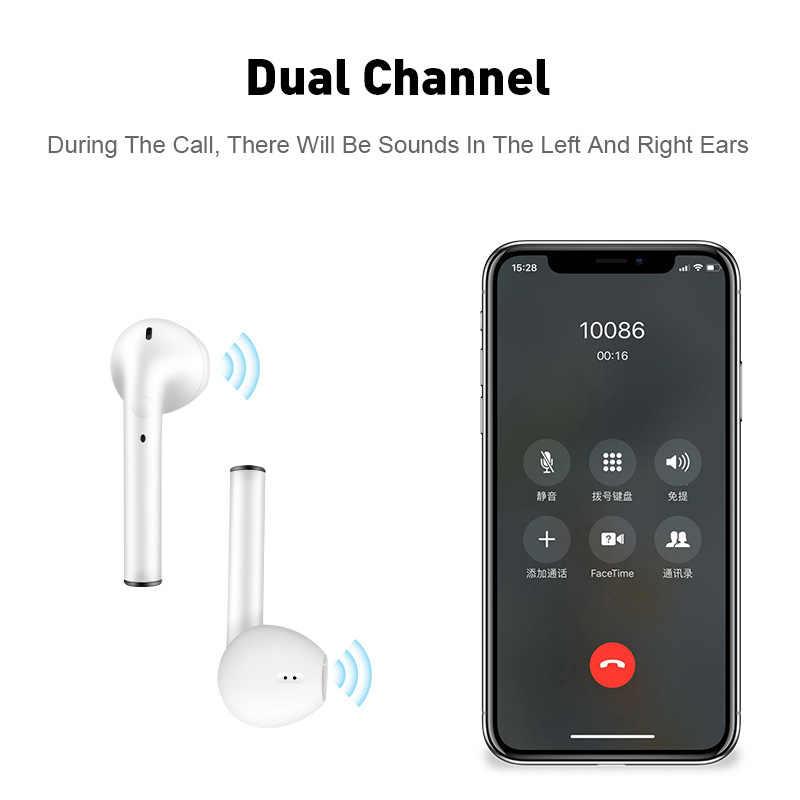 I7s tws qualidade som sem fio fone de ouvido fone sem fio bluetooth caixa carregamento para iphone xiaomi redmi huawei