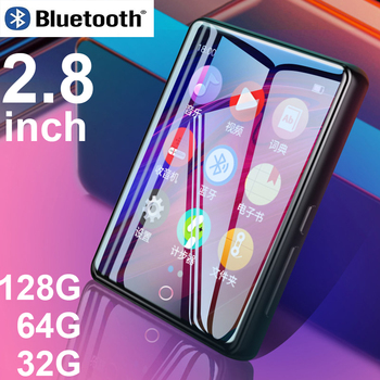 Ruizu m7 reproductor de MP4 de Metal Bluetooth 5,0 altavoz incorporado 2,8 pulgadas de gran pantalla táctil mp3 e-book podómetro Grabación de radio video