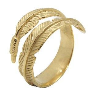 Wsparcie Dropship Unisex Dodo Feather Ring biżuteria ze stali nierdzewnej 316L rozmiar 6-13 Punk Ring