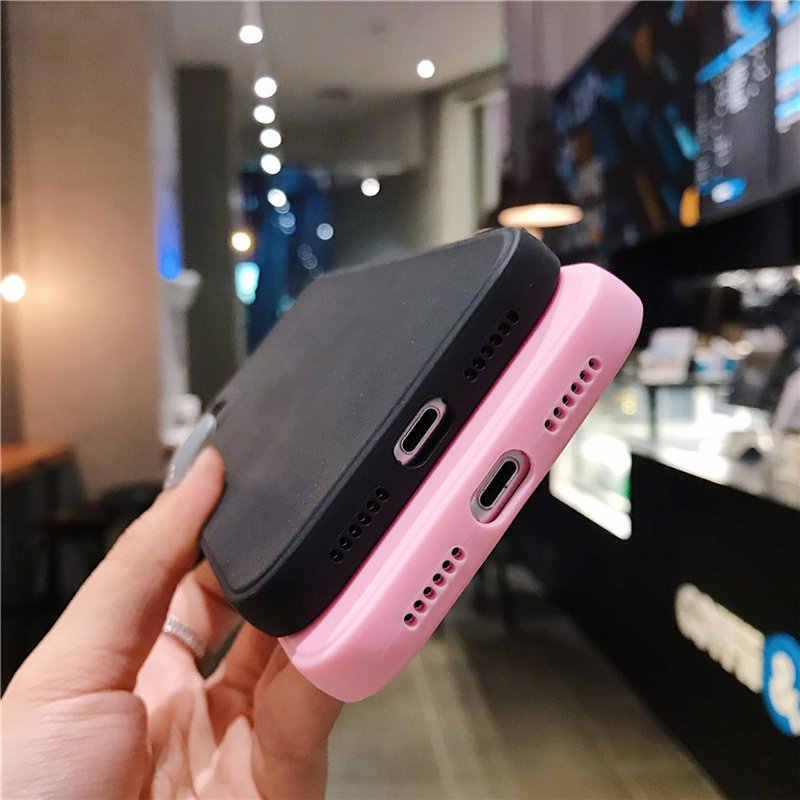 حافظة لهاتف آيفون 11 12 برو X XR XS Max 8 7 6s Plus SE 2020 غطاء خلفي ناعم