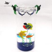Custom colorful Handmade Murano glass Tropical fish statue ornament Pendant Home Aquarium tank decor Mini animal Figurine