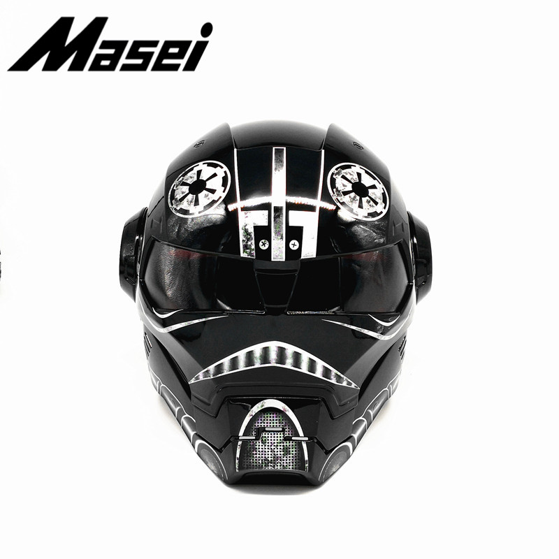 Free shipping Top ABS Moto biker Helmet MASEI Iron Man personality special fashion half open face motocross helmet Star Wars11 in Helmets from Automobiles Motorcycles