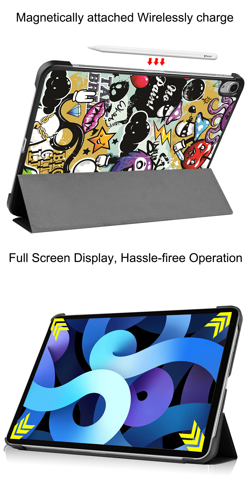 2020 Leather Air Tablet Folio inch MTT For Stand PU Case Generation 10.9 Flip iPad 4th