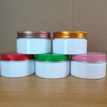 wholesale 100/120/150g empty cream jar white bottle cream Mask powder bath salts containers makeup cosmetic refillable tube