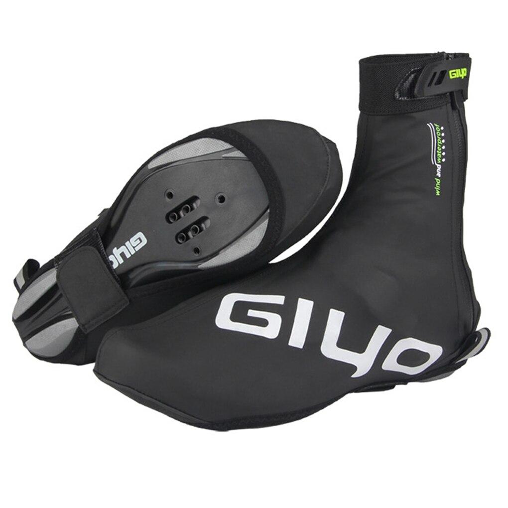 1 paire de chaussures de cyclisme couvre imperméable coupe vent chaud homme femme couvre chaussures route vélo vélo vtt hiver chaussure couverture protecteur |