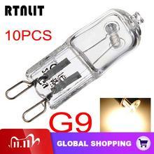 10 개/몫 G9 40W 할로겐 전구 긴 수명 캡슐 램프 따뜻한 흰색 명확한 전구 360 학위 홈 조명