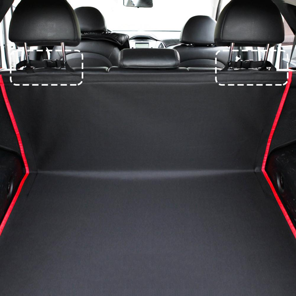 lowest price Universal Car Trunk Mat Waterproof Oxford Cloth Mat Dog Cat Back Seat Covers Rear Auto Pad Car Protection Blanket Seat Cover