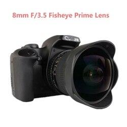8mm F/3.5 Ultra szerokokątny obiektyw typu rybie oko instrukcja obiektyw i kompatybilny z Nikon lustrzanki cyfrowe D3100 D3200 D5200 D5500 D7000 D7200