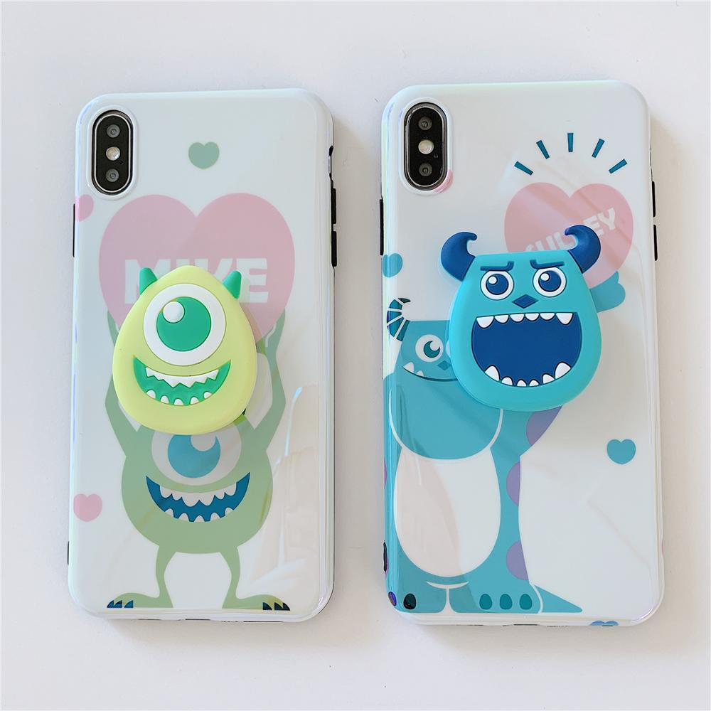 Image 2 - Funny Cartoon Cute Lovely Girly Couple Phone Case For iPhone X 8 7 6 6s plus XS11 Pro Max XR Grip Holder Stand Back Cover Coque-in Fitted Cases from Cellphones & Telecommunications