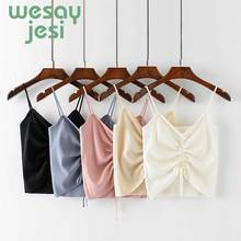 цены на Women V-neck Vest Camisole Casual Tops Sling tank tops Knitted  Vest Stretch Ladies Slim Sexy solid Femme Camis Tops в интернет-магазинах