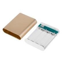 10400mAh DIY Power Bank 4*18650 Battery Box Case Kit Universal USB External Backup Battery Charger Powerbank For All Cell Phones стоимость