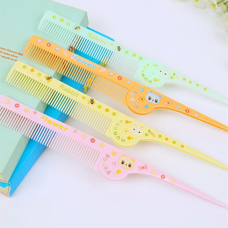 Random Color Baby Cartoon Comb Infants Hair Care Massage Anti-static Plastic Comb Kids Fold Outdoor Portable Practical Hairbrush