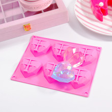 6 Cavity Diamond Love Heart Shape Silicone Mold Cake Decorating Tools Mousse Cake Chocolate Mold Soap Mould Baking Pastry Tools cute 3d eastern bunny silicone rabbit shape cake chocolate desser mold mousse cake mould cupcake topper baking pastry decorating